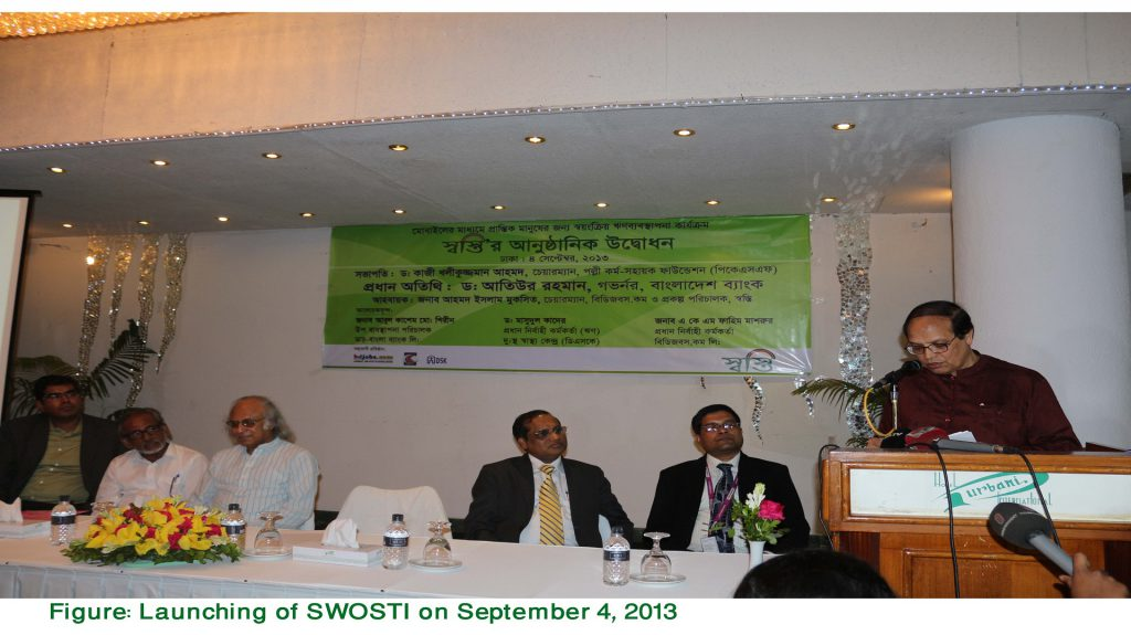 Bangladesh Bank Governor delivering speech in launching program